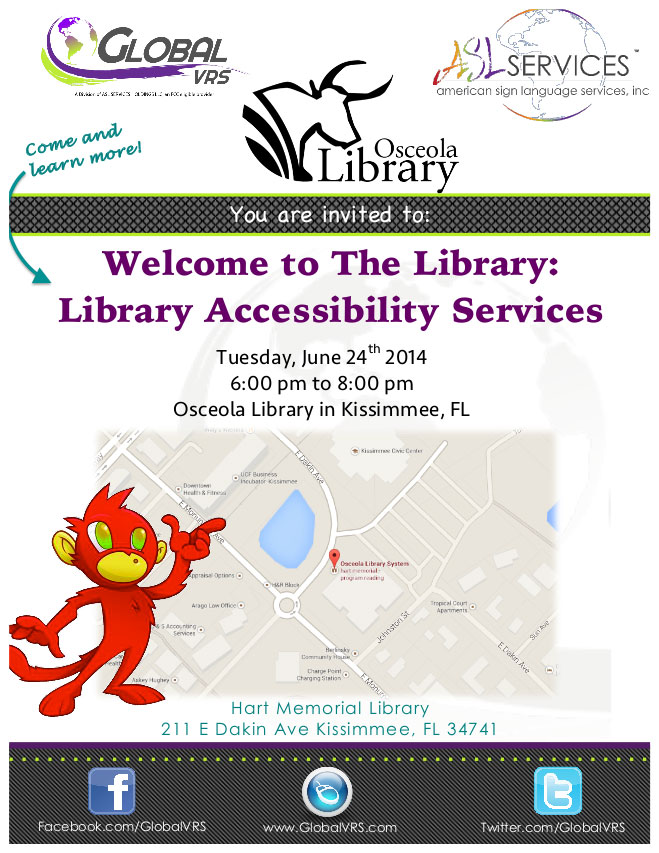 Kissimmee Library Accessibility Services Asl Services